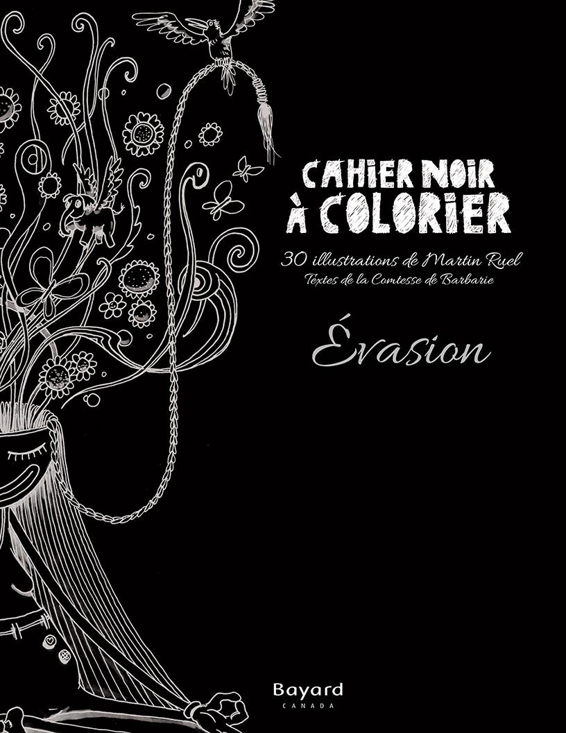 Cahier noir à colorier – Évasion