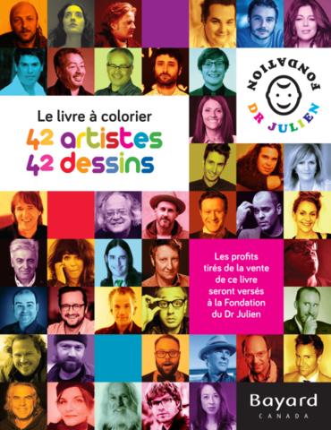 Le livre à colorier. 42 artistes, 42 dessins