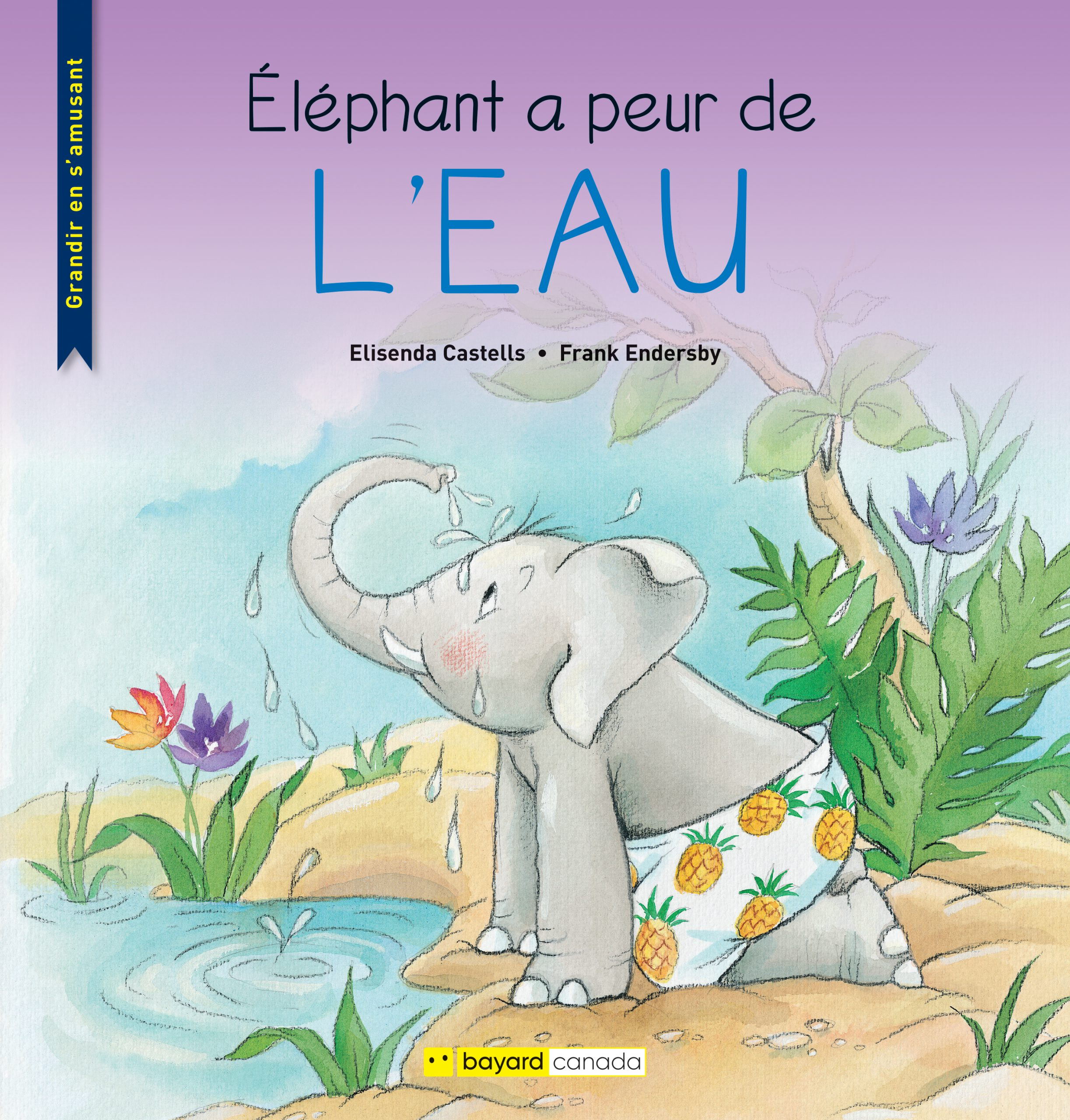 Éléphant a peur de l'eau